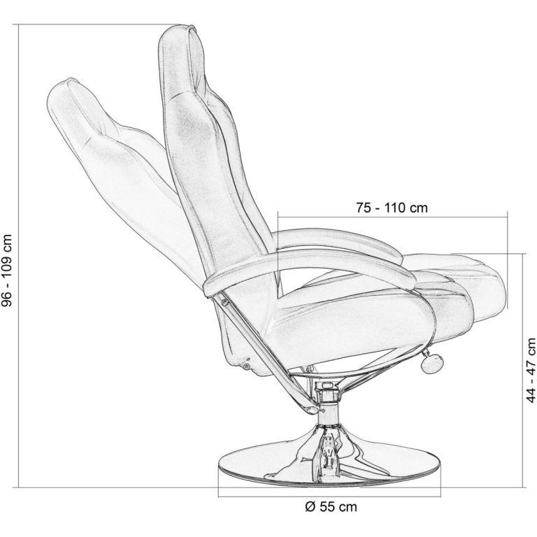 Kancelářská židle GT RELAX RACER s podnožkou - černá/bílá