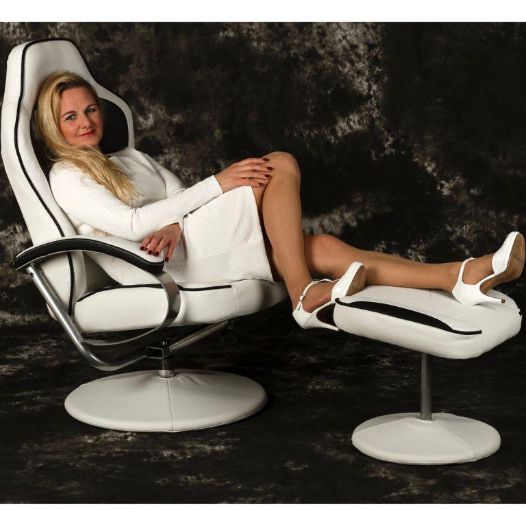 Kancelářská židle GT RELAX RACER - bílá/černá