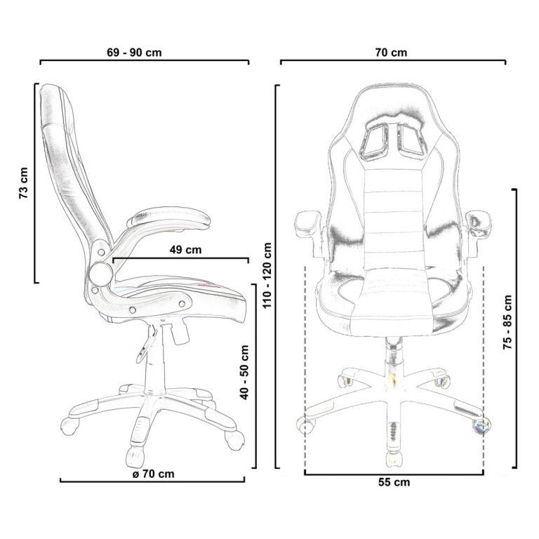 Otočná kancelářská židle GT-Racer - růžová/černá/bílá