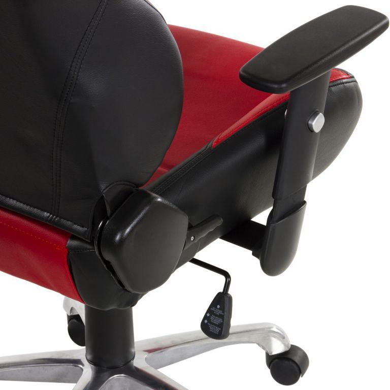 Kancelářská otočná židle RS Series, černá/červená