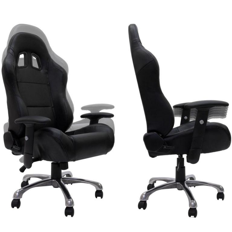 Kancelářská otočná židle RS RACER SEAT, černá/červená
