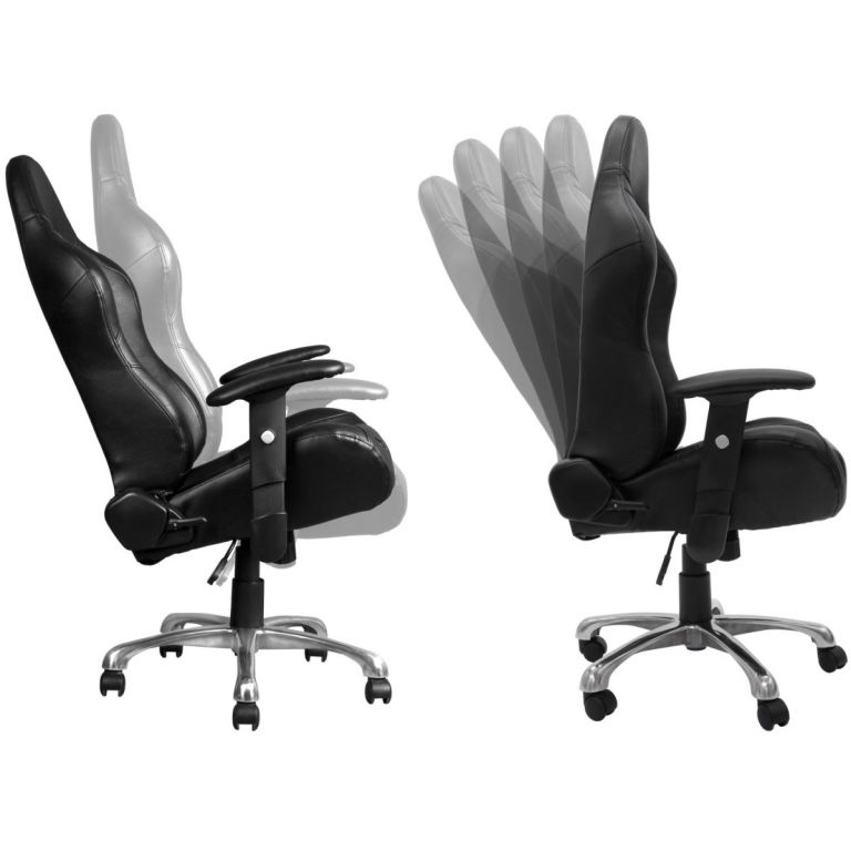 Kancelářská otočná židle RS Series, černá/bílá