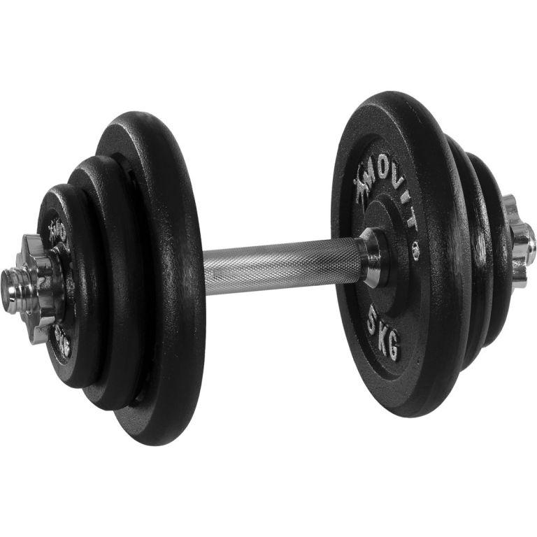 Jednoruční litinová činka MOVIT 20 kg
