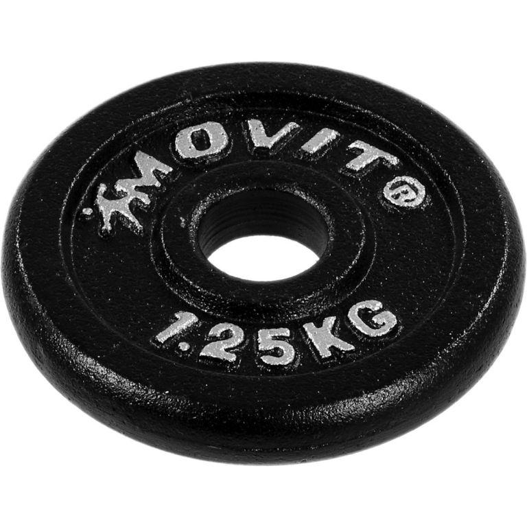 Set jednoručních litinových činek MOVIT 2 x 25 kg