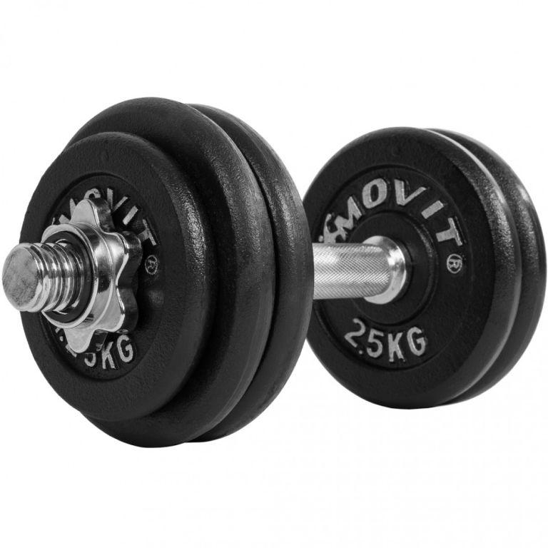 Jednoruční činka litinová MOVIT 30 kg