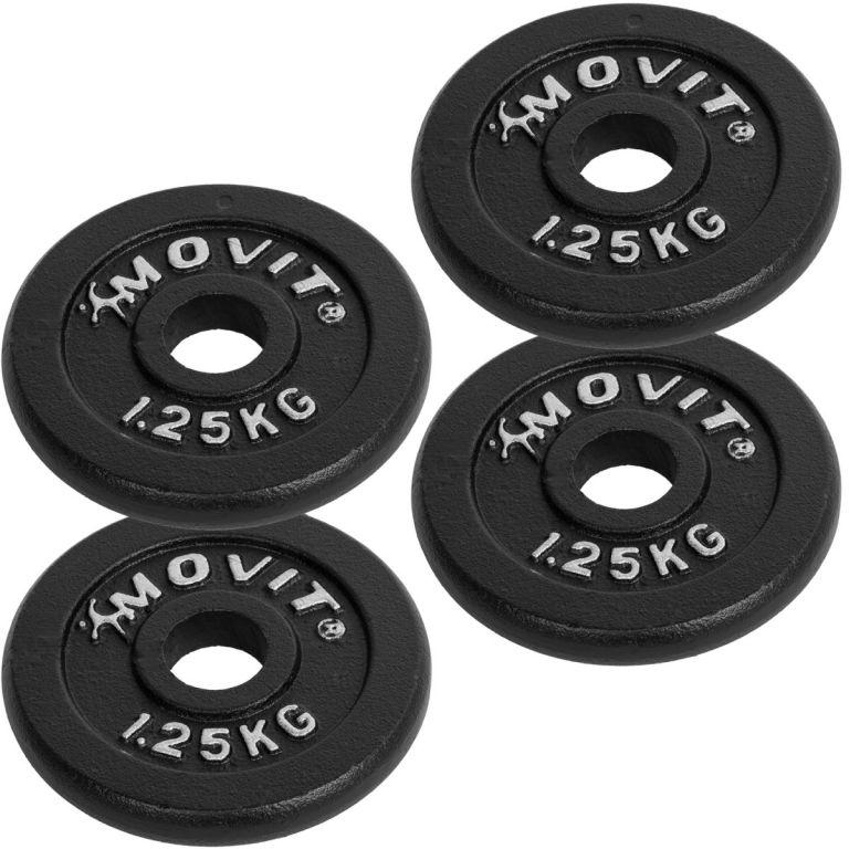 Set jednoručních litinových činek MOVIT 2 x 30 kg