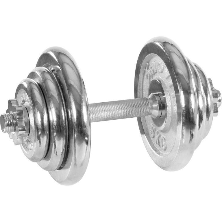 Jednoruční činka chromovaná MOVIT 20 kg
