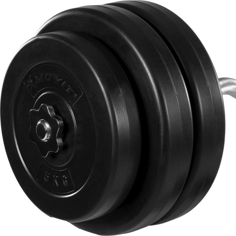Obouruční činka MOVIT - 55 kg