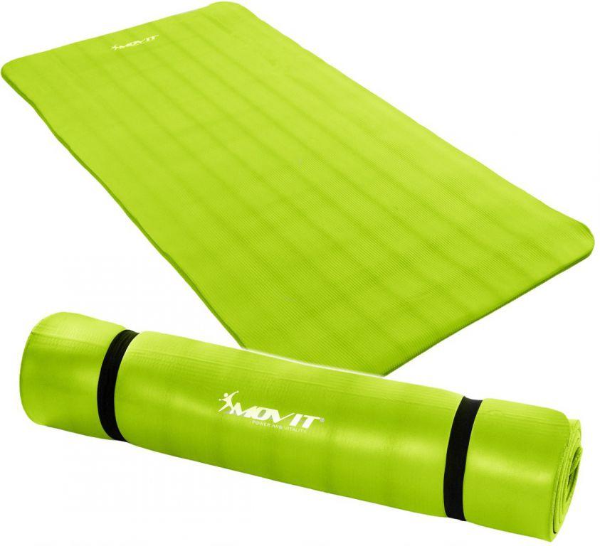 Gymnastická podložka MOVIT 190 x 100 x 1,5 cm světle zelená