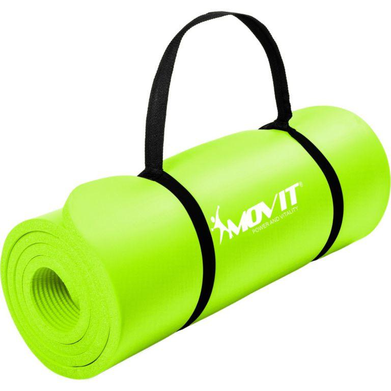 Gymnastická podložka MOVIT 190 x 60 x 1,5 cm světle zelená