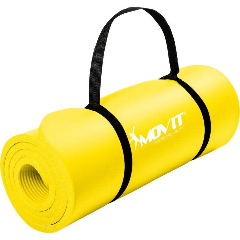 Gymnastická podložka MOVIT 190 x 60 x 1,5 cm žlutá