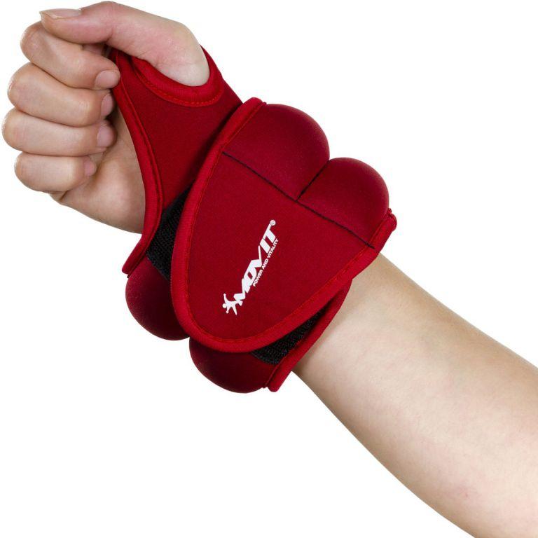 Oem Movit neoprenová kondiční zátěž 0,5 kg, červená