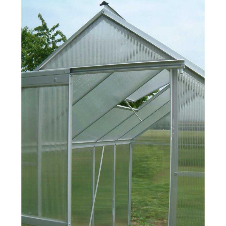 ALU skleník s větracím oknem a posuvnými dveřmi 3,94 m³ PLANTASIA