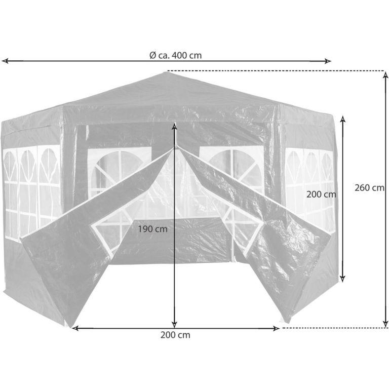 Zahradní párty stan atypický 4 x 2,6 m - bílá
