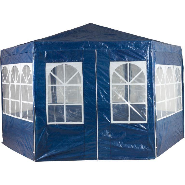 Zahradní párty stan atypický 4 x 2,6 m - modrá