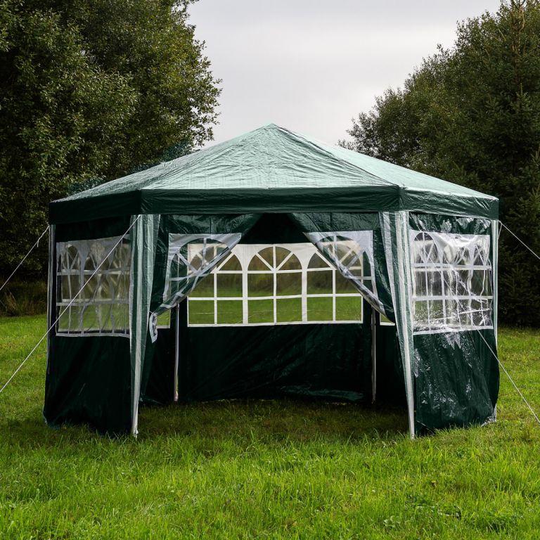 Zahradní párty stan atypický 4 x 2,6 m - zelená