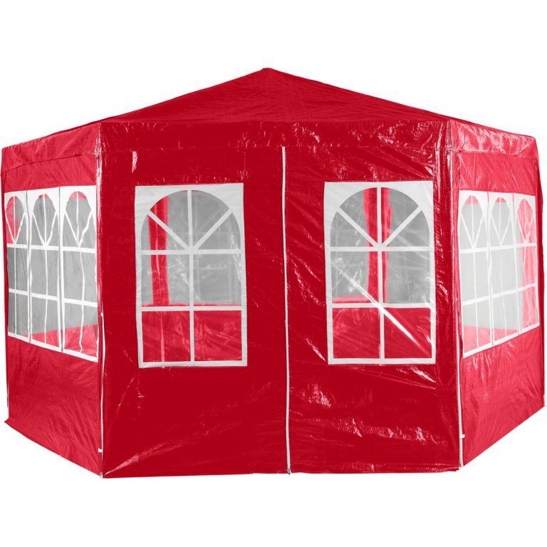Zahradní párty stan atypický 4 x 2,6 m - červená