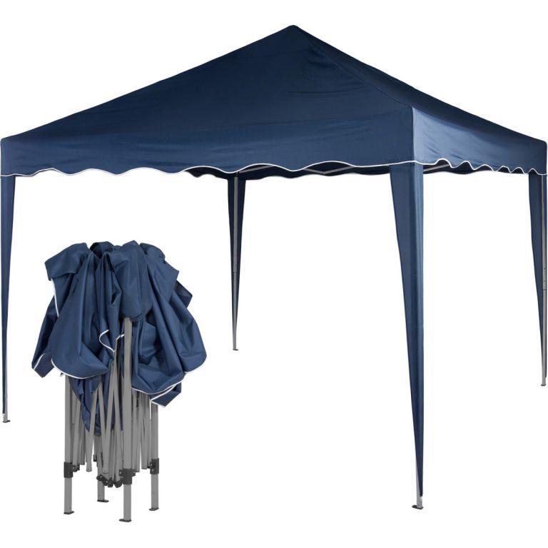 Zahradní párty stan nůžkový 3x3 m - modrý OEM M36843