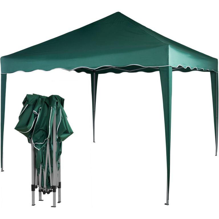 Zahradní párty stan nůžkový 3x3 m - zelený M36844