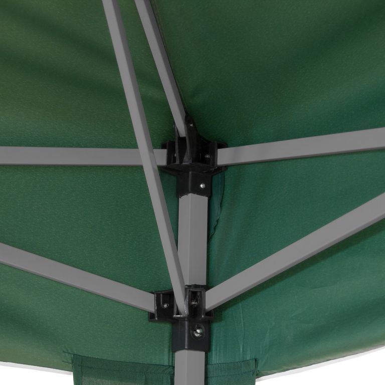 Zahradní párty stan nůžkový 3x3 m - zelený