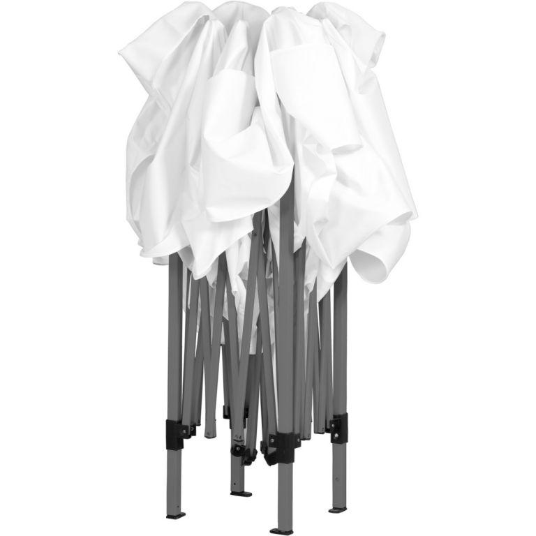 Zahradní párty stan nůžkový 3x3 m + 2 boční stěny - bílý