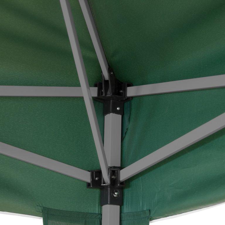 Zahradní párty stan nůžkový 3x3 m + 4 boční stěny - zelená