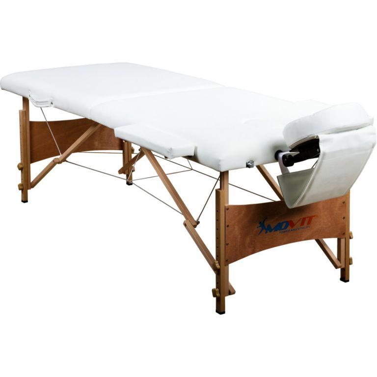 MOVIT 38423 Přenosné masážní lehátko bílé 184 x 70 cm