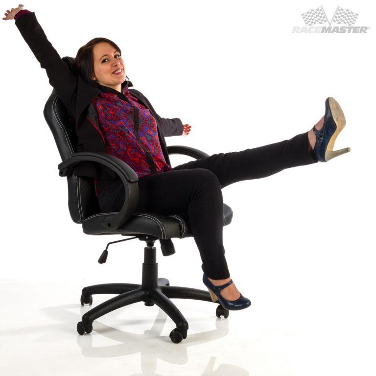Kancelářská židle MX-Racer Stripes černá/šedý