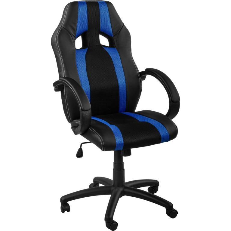 Kancelářská židle MX-Racer Stripes černá/modrá
