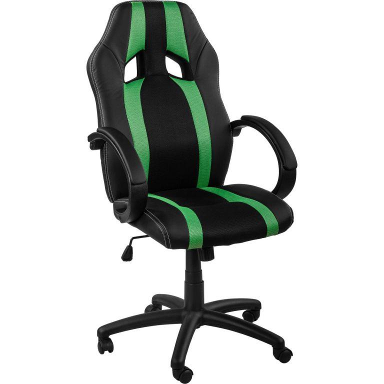Kancelářská židle MX-Racer Stripes černá/zelený