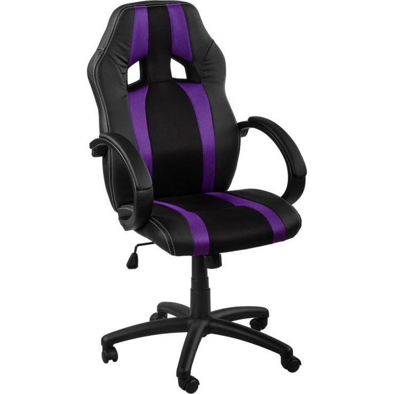 Kancelářská židle MX-Racer Stripes černá/fialový