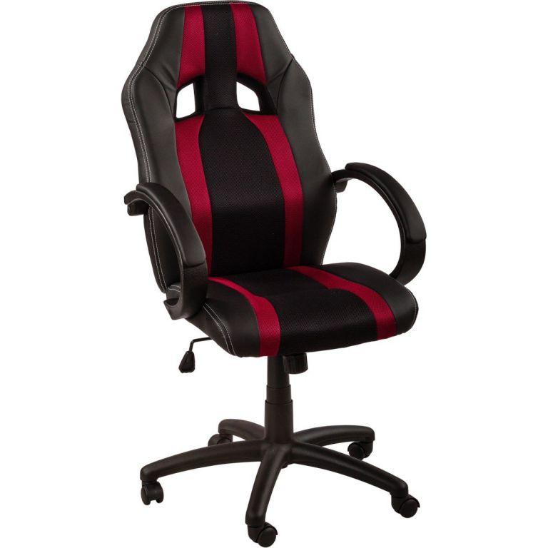 RACEMASTER® 39172 Kancelářská židle GS Tripes Series - černá vínová