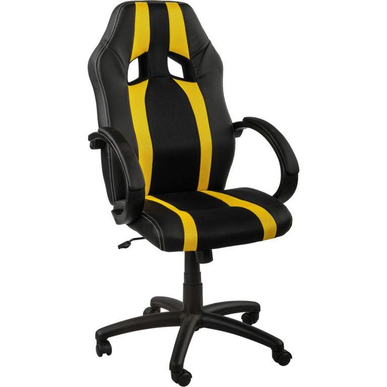 Kancelářská židle MX-Racer Stripes černá/oranžový