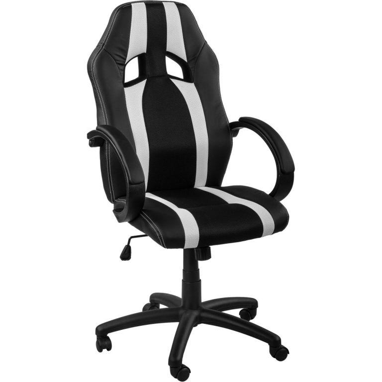 Kancelářská židle MX-Racer Stripes černá/bílý