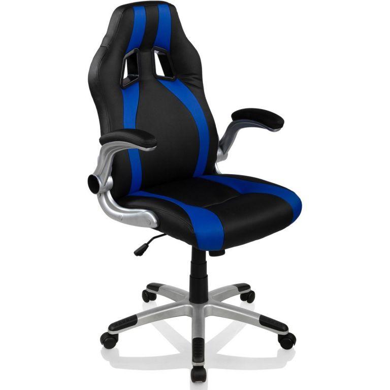 Kancelářská židle GT Stripes Series - černá/modrá