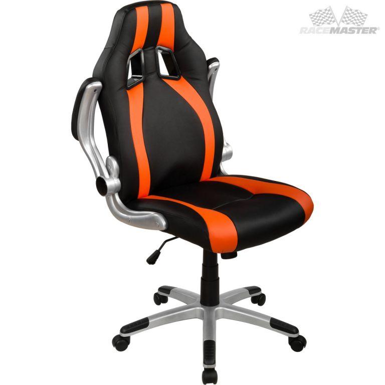 Kancelářská židle GT Stripes Series - černá/oranžová