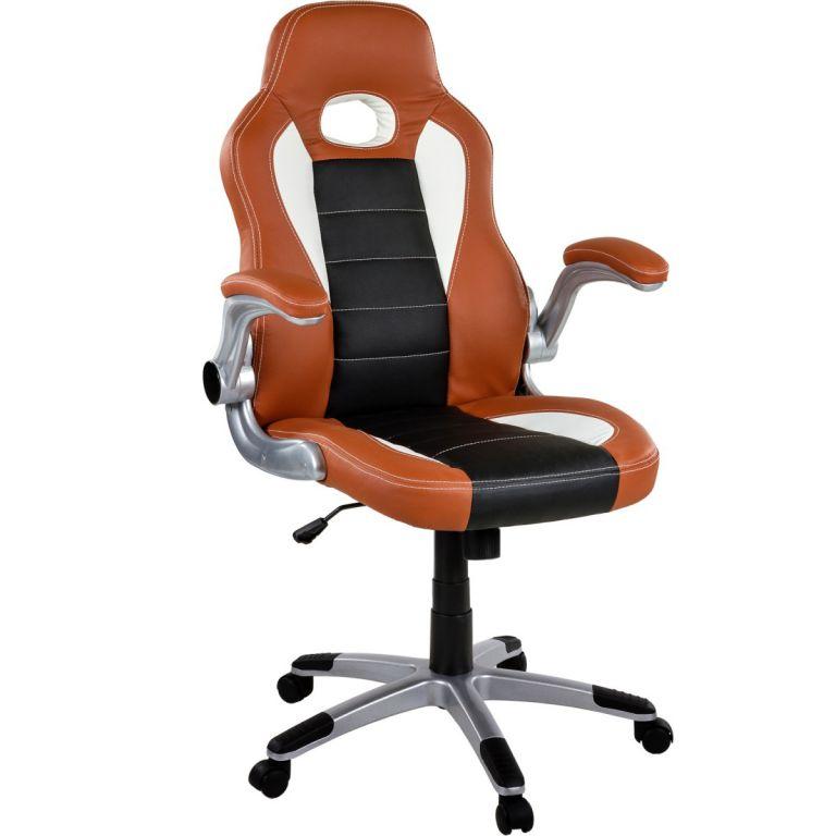 Kancelářská židle GT Series One hnědá/černá/bílá