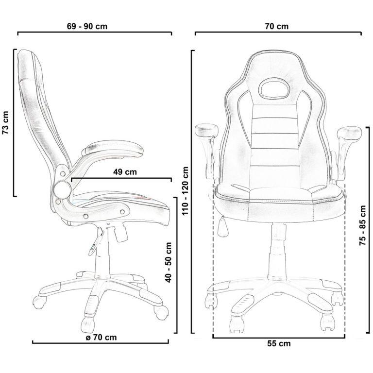Kancelářská židle GT-Racer růžová/černá/bílá