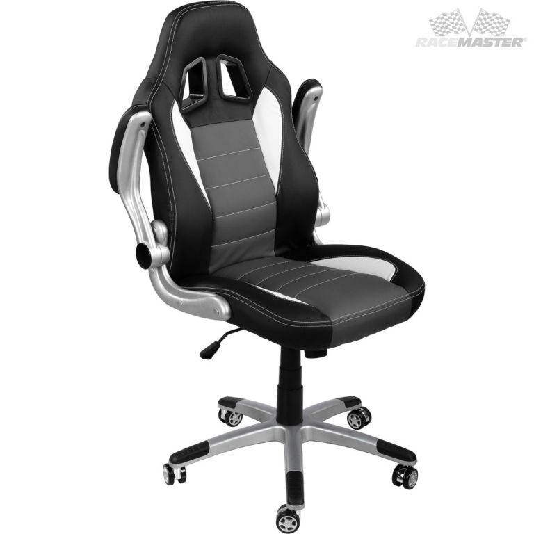 Kancelářská židle GT-Series černá/šedá/bílá + tuningová sada