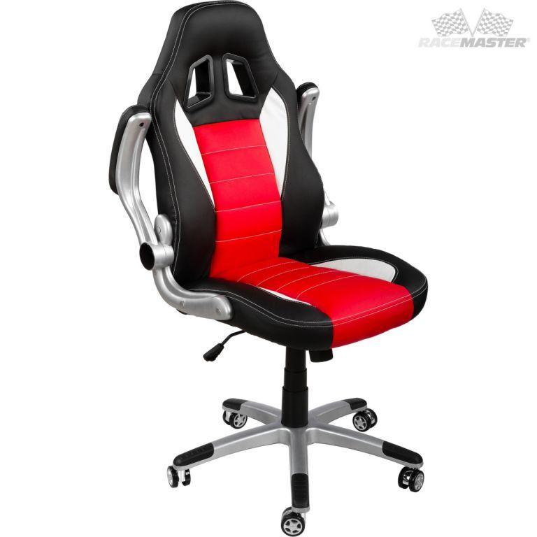 Kancelářská židle GT-Racer černá/červená/bílá + tuningová sada