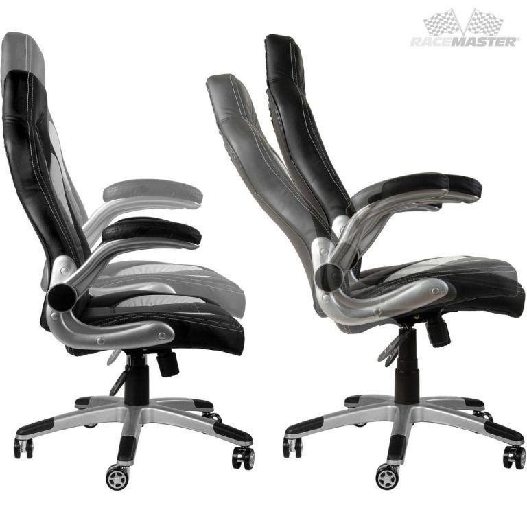 Kancelářská židle GT-Series bílá/černá/červená + tuningová sada