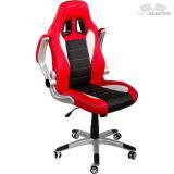 Kancelářská židle GT-Racer červená/černá/bílá + tuningová sada