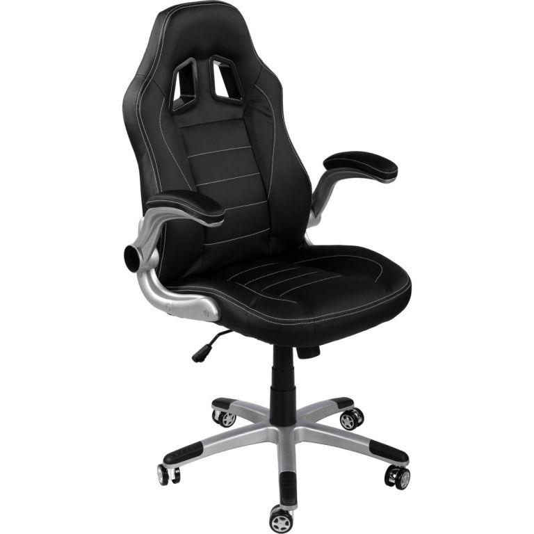 Kancelářská židle GT-Racer černá/černá/černá + tuningová sada