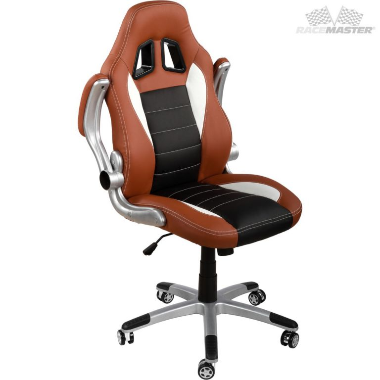 Kancelářská židle GT-Series hnědá/černá/bílá + tuningová sada