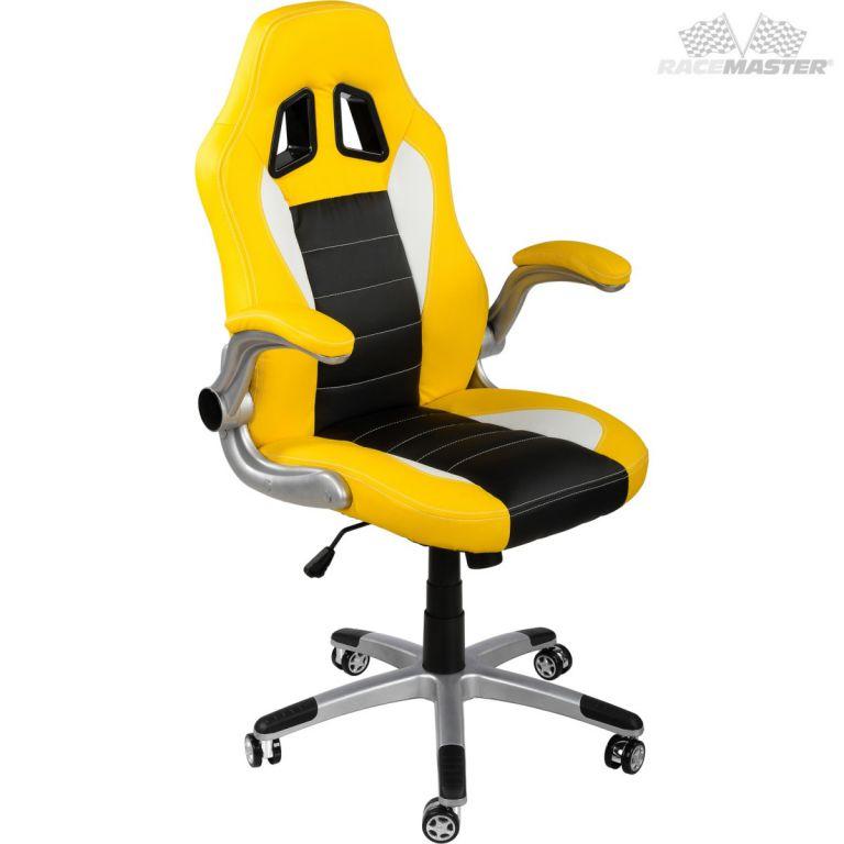 Kancelářská židle GT-Series  žlutá/černá/bílá + tuningová sada