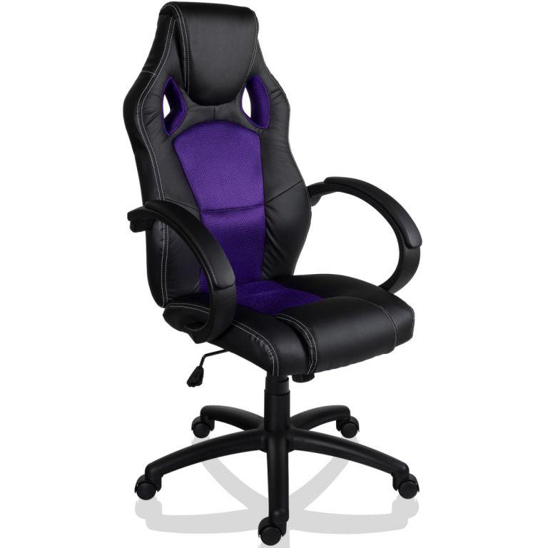 """Kancelářské židle """"MX-Racer"""" + Tuning sada, černá / fialová"""