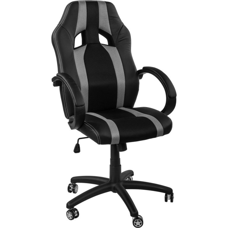 Kancelářská židle GS Series Stripes černá/šedá  + uni kolečka