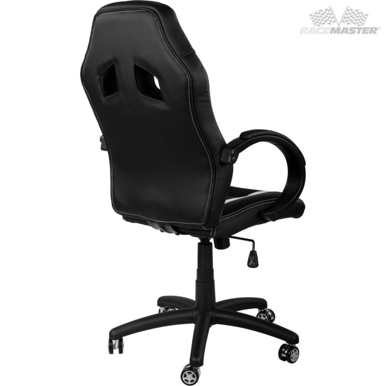 Kancelářská židle MX-Racer Stripes černá/modrá + uni kolečka