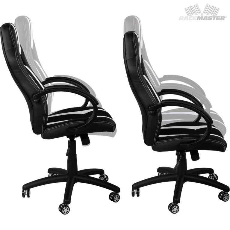 Kancelářská židle MX-Racer Stripes černá/vínová + uni kolečka