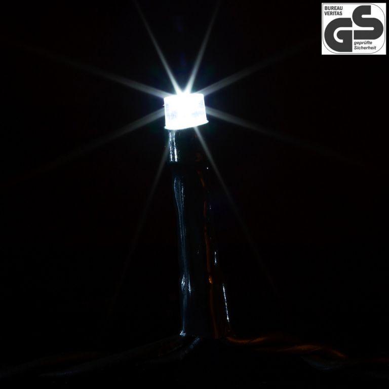 Vánoční LED osvětlení 20 m - studená bílá 200 LED - zelený kabel